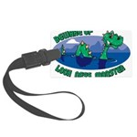 Beware Of Loch Ness Monster Large Luggage Tag