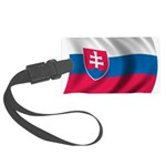 Wavy Slovakia Flag Large Luggage Tag