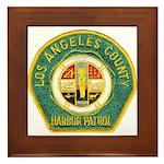 L A County Harbor Patrol Framed Tile