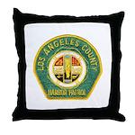 L A County Harbor Patrol Throw Pillow