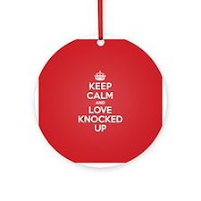 K C Love Knocked Up Ornament (Round)