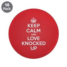 "K C Love Knocked Up 3.5"" Button (10 pack)"