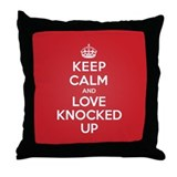 K C Love Knocked Up Throw Pillow