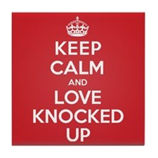 K C Love Knocked Up Tile Coaster