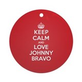 K C Love Johnny Bravo Ornament (Round)