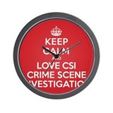 K C Love CSI Wall Clock