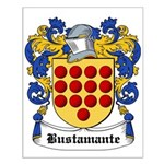 Bustamante Coat of Arms Small Poster