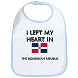 I Left My Heart In The Dominican Republic Bib