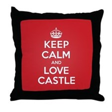 K C Love Castle Throw Pillow