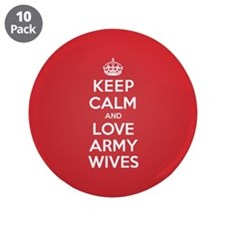 "K C Love Army Wives 3.5"" Button (10 pack)"
