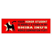 SHIBA INU World Domination Bumper Bumper Sticker