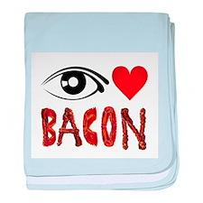 Eye Heart Bacon baby blanket