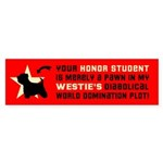 WESTIE World Domination! Bumper Sticker