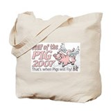 Flying Pig 2007 Tote Bag