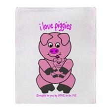 PIG - LOVE TO BE ME Throw Blanket
