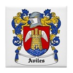 Aviles Coat of Arms Tile Coaster