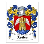 Aviles Coat of Arms Small Poster