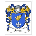 Arnau Coat of Arms Small Poster