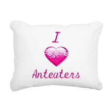 I Love/Heart Anteaters Rectangular Canvas Pillow