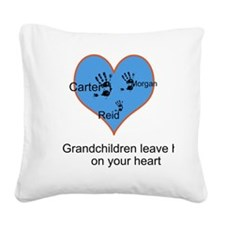 Personalized handprints Square Canvas Pillow