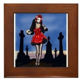 Dia de los Muertos Pin-up Framed Tile