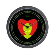 Wall Clock - Alien heart