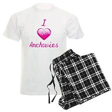 I Love/Heart Anchovies Pajamas