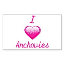 I Love/Heart Anchovies Decal