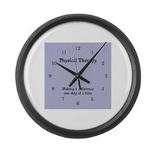 Cute Physical therapist assistant Large Wall Clock