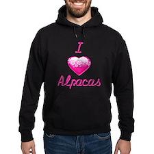 I Love/Heart Alpacas Hoodie