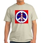 Vote Democrat for Peace First Ash Grey T-Shirt