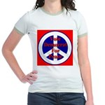 Vote Democrat for Peace First Jr. Ringer T-Shirt
