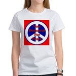 Vote Democrat for Peace First Women's T-Shirt