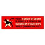 DOBERMAN World Domination Bumper Sticker