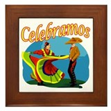 2 Mexican Dancers Framed Tile