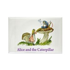 Alice and the Caterpillar Rectangle Magnet (100 pa