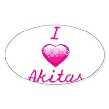 I Love/Heart Akitas Decal