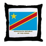 Flag of The Democratic Republ Throw Pillow
