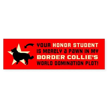 BORDER COLLIE World Domination! Sticker