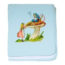 Alice and the Caterpillar baby blanket