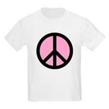 Pink Peace Sign T-Shirt