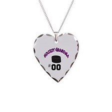 Funny Hockey Necklace Heart Charm
