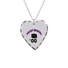 Unique Hockey Necklace Heart Charm