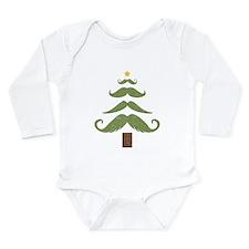Mustache Tree Long Sleeve Infant Bodysuit