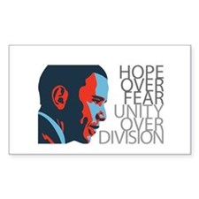 Obama - Red & Blue Decal