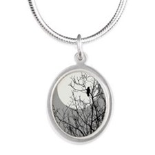 BRANCHES Silver Oval Necklace