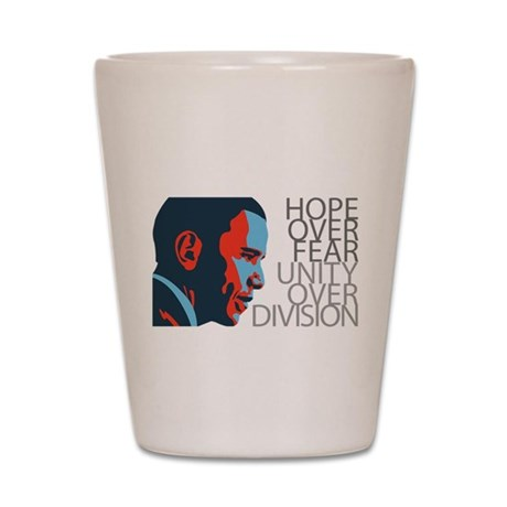 Obama - Red & Blue Shot Glass