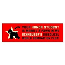 SCHNAUZER World Domination Bumper Bumper Sticker