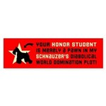 SCHNAUZER World Domination Bumper Sticker