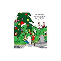 Santa Squid Posters